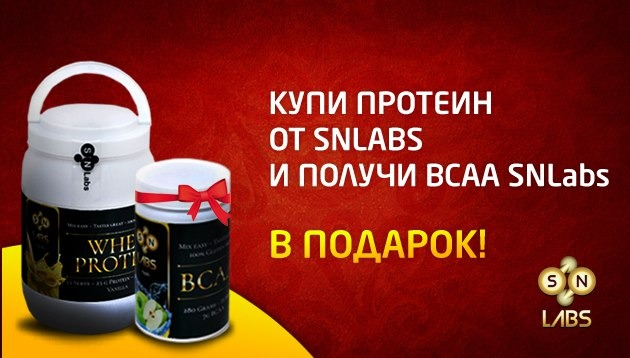 SNLabs АКЦИЯ Whey Protein BCAA