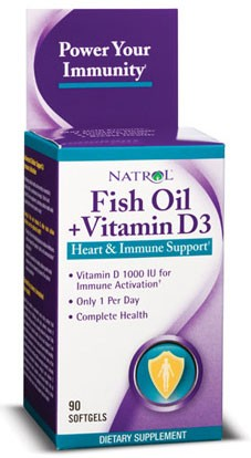 Fish Oil + Vitamin D3 (Natrol)
